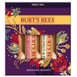 Burt's Bees Beeswax Fruit Mix Tinted Lip Balm 4pk